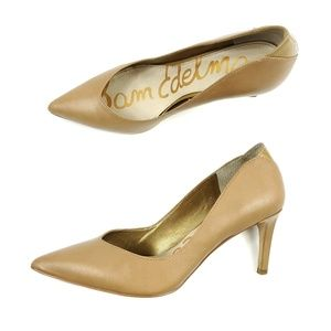 Sam Edelman Leather Golden Nude Orella Pumps Heels